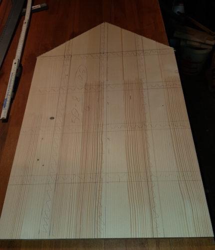 Adventskalender Grundplatte in Hausform