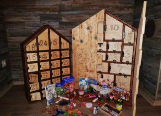 Adventskalender selbst gebaut aus Holz