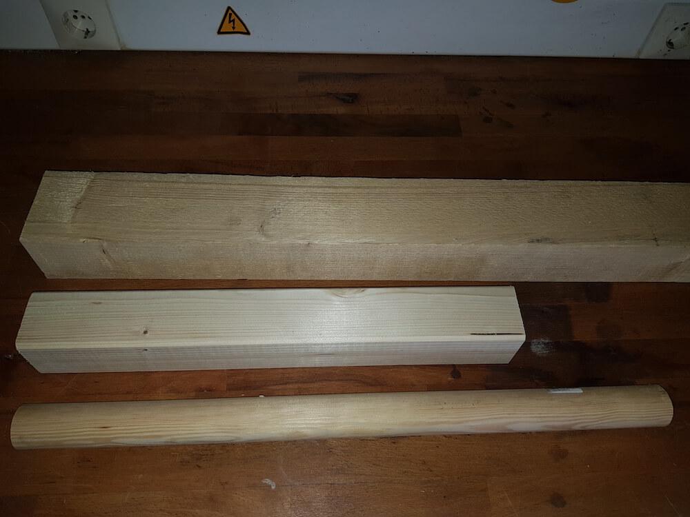 Benötigtes Holz für Wikingerschach