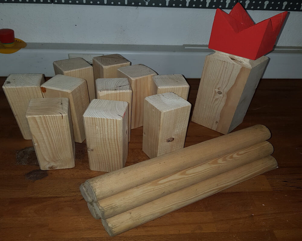 Wikingerschach selbst gebaut