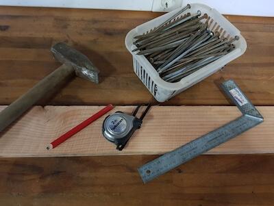 Benötigte Werkzeuge um Falschenregal zu bauen