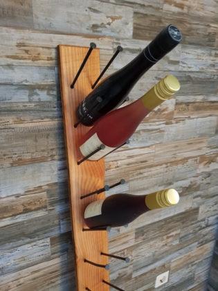 Flaschenregal fertig gebaut