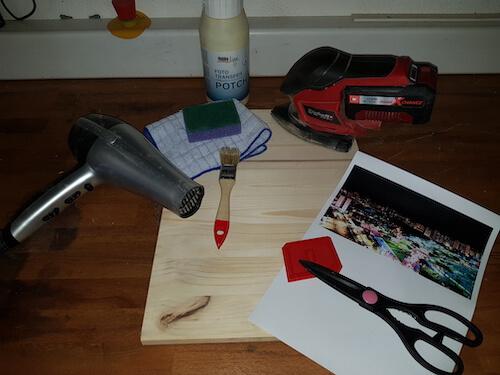 Foto auf Holz drucken Materialien