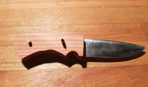 Holzgriff für Messer bauen