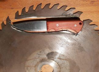 Messer aus einem Kreissägeblatt selbst gebaut