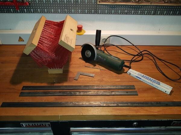 Benötigte Materialien um Schuhputzer zu bauen