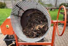 Selbstgebauter elektrischer Kompostsieb für Betonmischer
